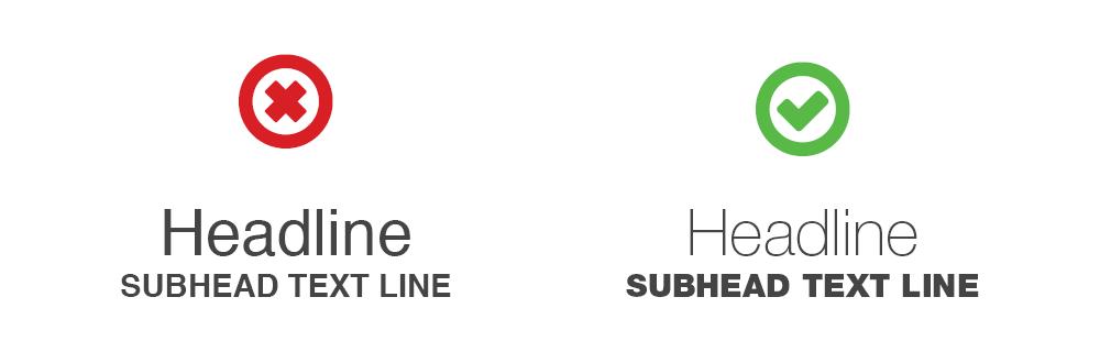 Unique font weights