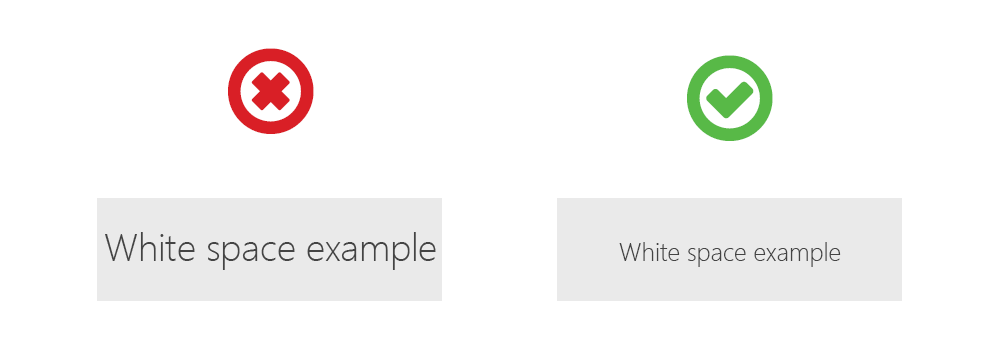 White space example