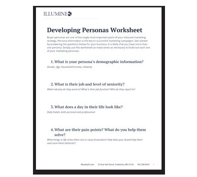 Marketing Persona Worksheet