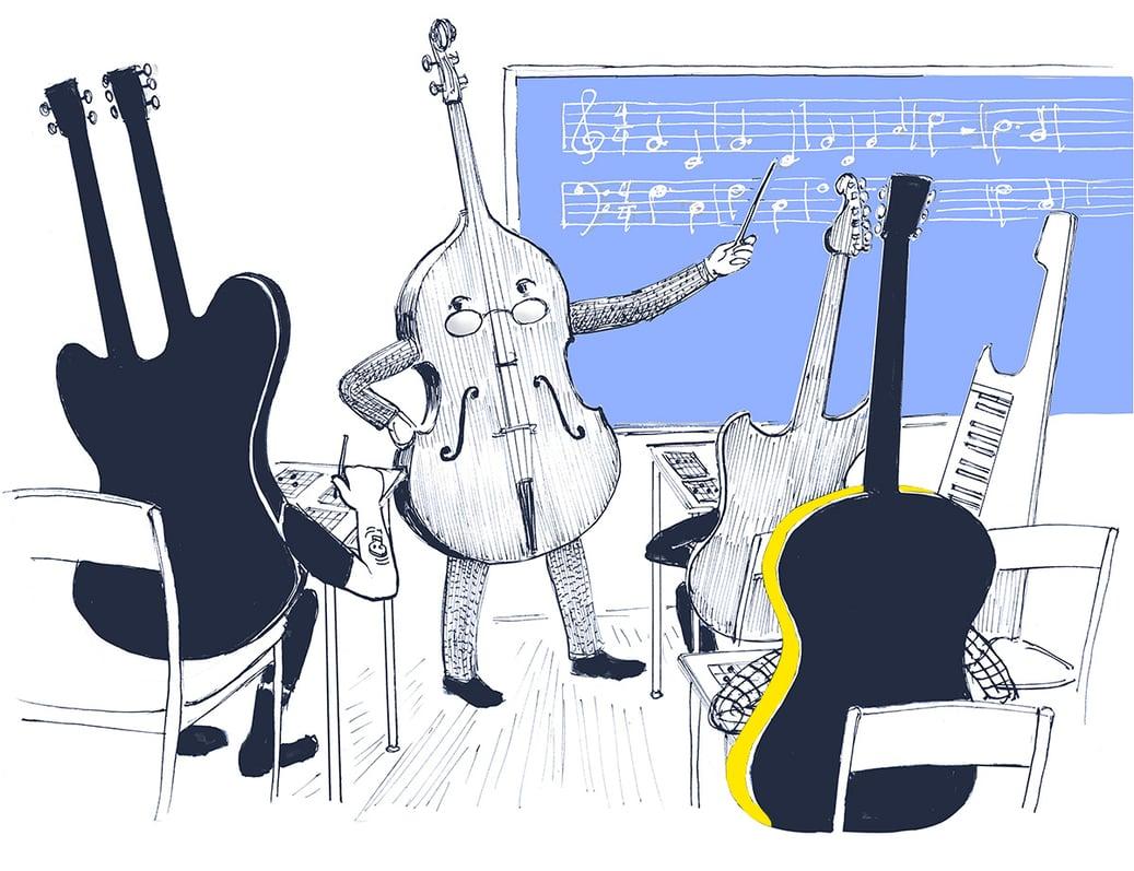 Guitars in classroom