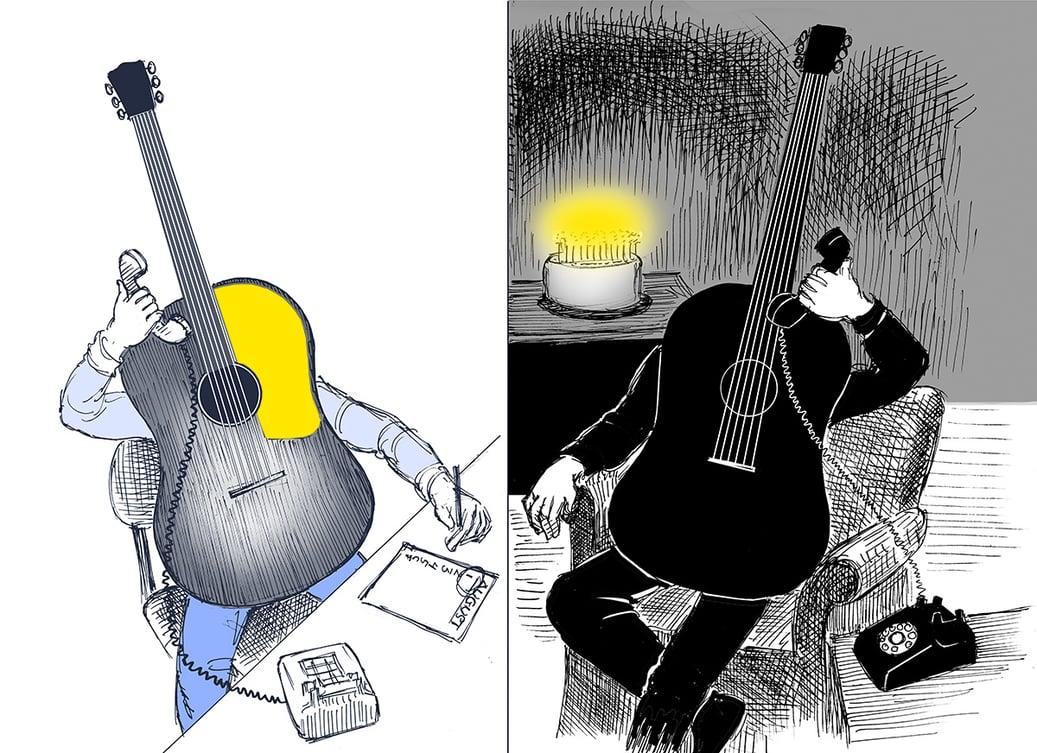 Guitars on phone