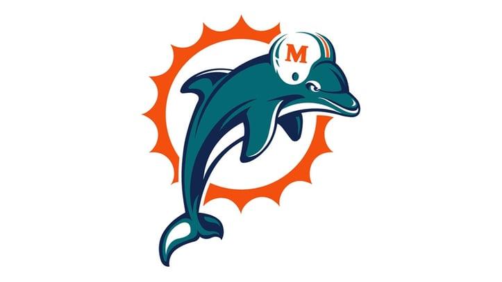 Miami Dolphins Teal Logo