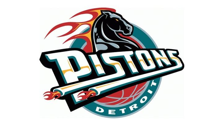 Detroit Pistons Teal Logo