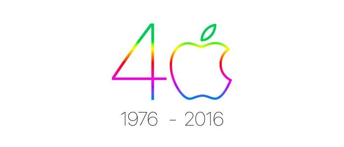 Apple 40 logo