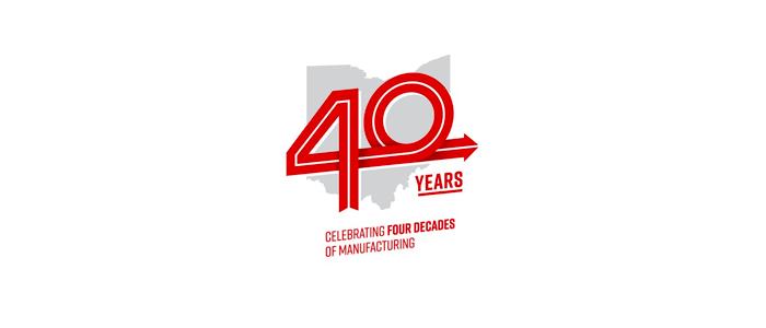 Honda Ohio 40 years logo