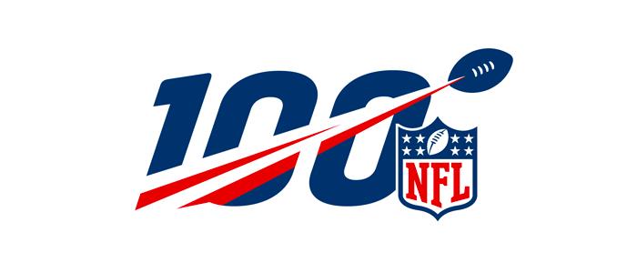 NFL 100 logo
