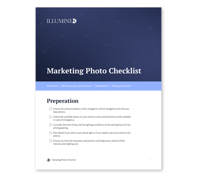 Marketing Photo Checklist