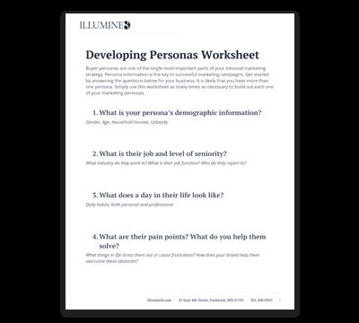 Marketing Personas  Worksheet