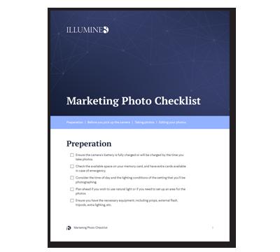 Marketing Photo Checklist