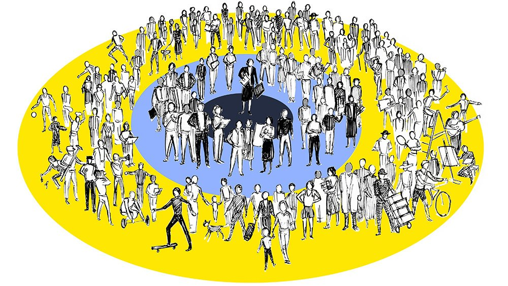 People in a Circle Illustration