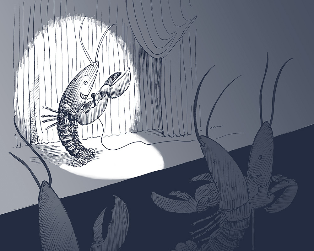 Lobster on stage