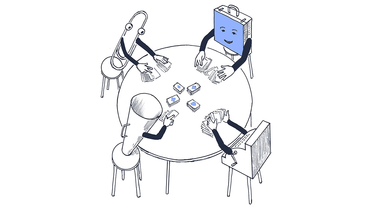 Poker table sorting
