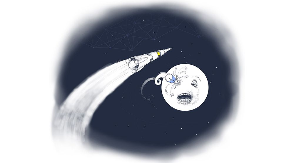 Rockets going to the moon